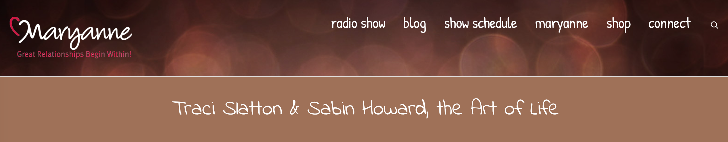 CATCH SABIN HOWARD & ME 1:00 PM ET 11/10 ON THE POWER OF WE