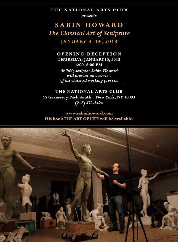 Sabin Howard Sculpture Show at the National Arts Club