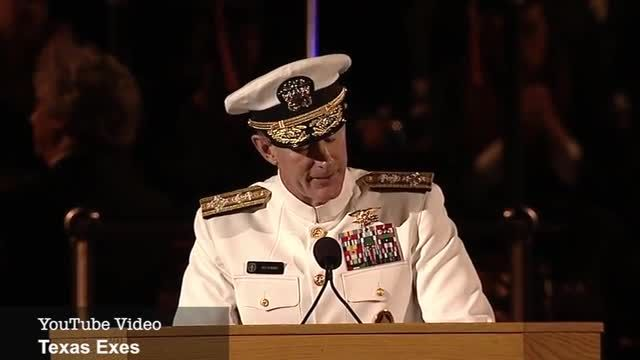 Extraordinary Life Lesson Speech: Admiral McRaven's 2014 Commencement Address at UT Austin