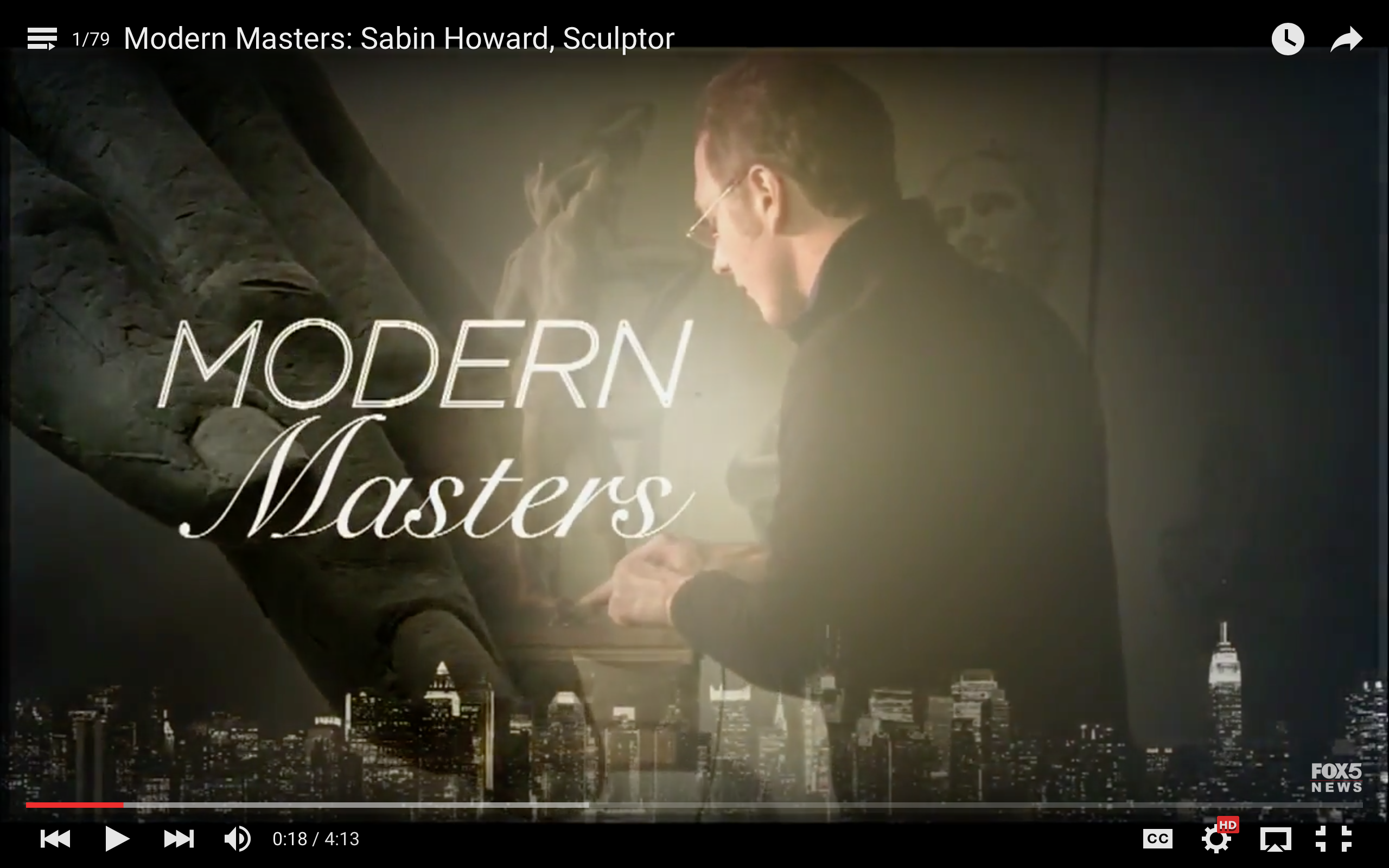 Modern Masters: Sabin Howard, Sculptor, on Fox TV