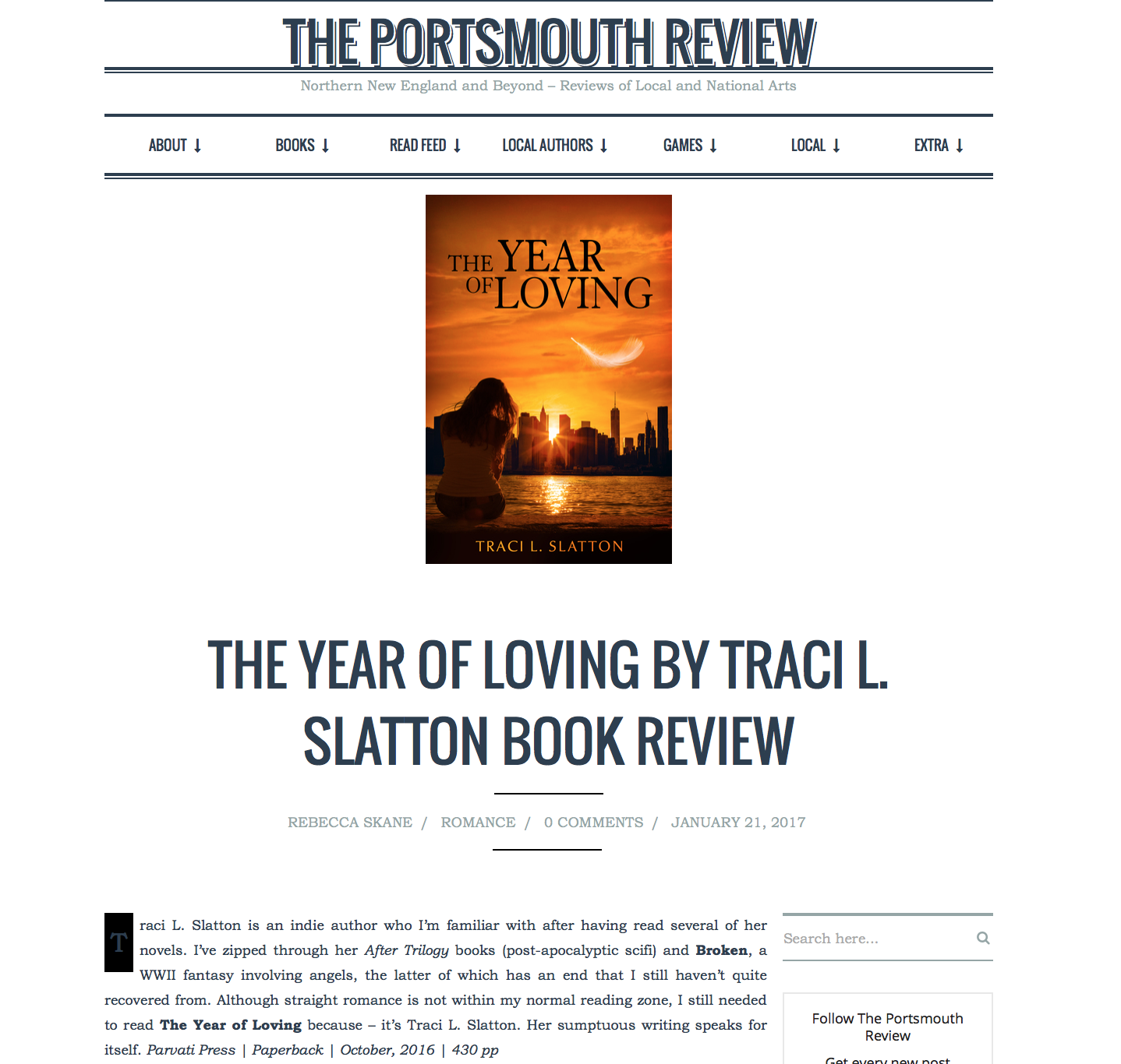 The Portsmouth Review on THE YEAR OF LOVING