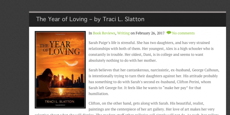 Two New Reviews of The Year of Loving
