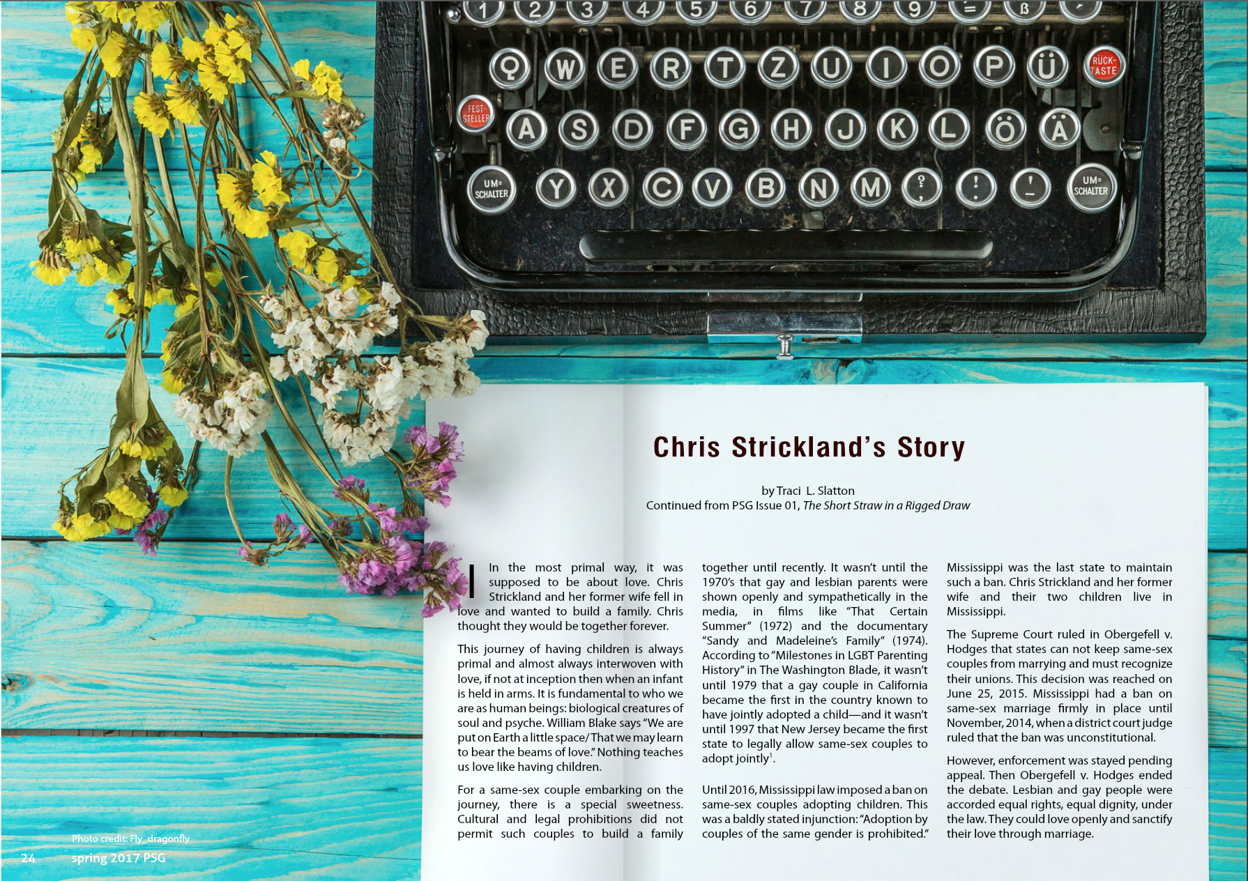 Chris Strickland's Story: My Article in Parent Survival Magazine
