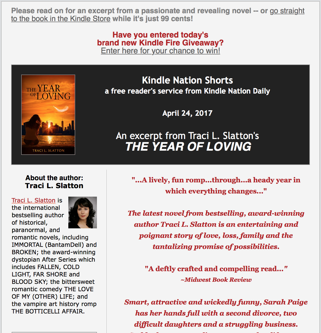 The Year of Loving: On Sale for a Limited Time