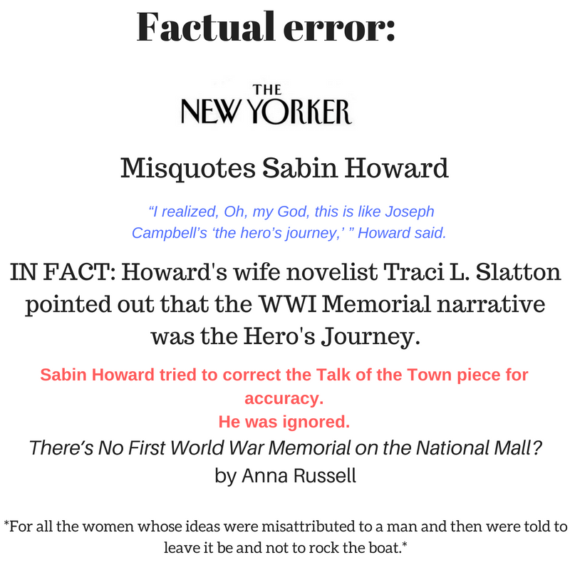 New Yorker Factual Error