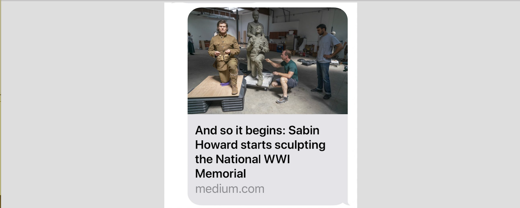 Medium Article & YouTube Video about Sabin Starting Sculpting